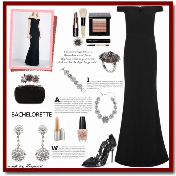 A fashion look from March 2017 by forgoszel featuring Alexander McQueen, Oscar de la Renta, Bobbi Brown Cosmetics, OPI and Mariah Carey #bachelorette #polyvorecontest #polyvorefashion #contestentry #contest #fashioninspiration #fashion #fashionset #fashionable #Spring #style #spring2017 #springfashion