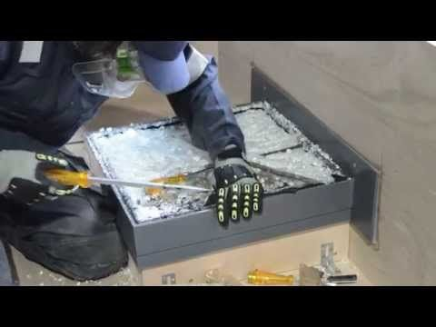 This video clip of a recent Part Q security test on a Flushglaze rooflight demonstrates that although the outer toughened panel breaks quickly when the attack commences, the inner laminated pane can withstand an attack for much longer.
