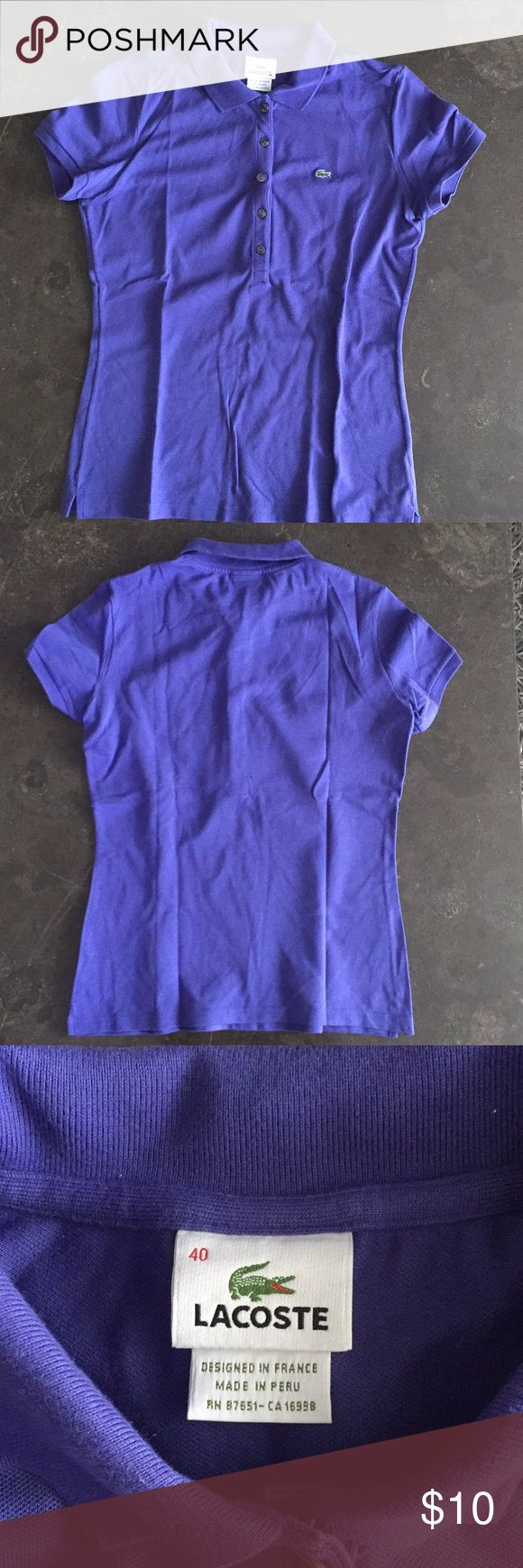 Lacoste women's fitted polo Lacoste women's fitted polo . Purple . Authentic size 40 Lacoste Tops Tees - Short Sleeve