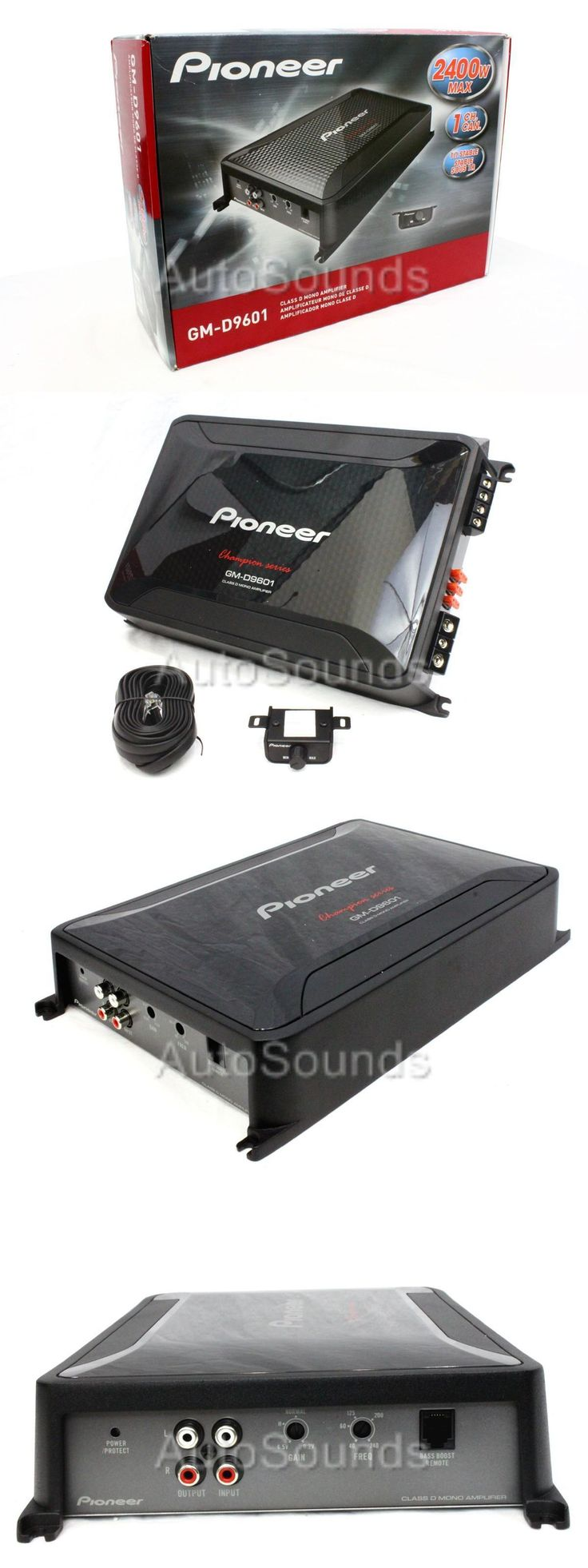 Car Amplifiers: New Pioneer Gm Digital Series Gm-D9601 2400 Watt Monoblock Class D Car Amplifier -> BUY IT NOW ONLY: $168.58 on eBay!