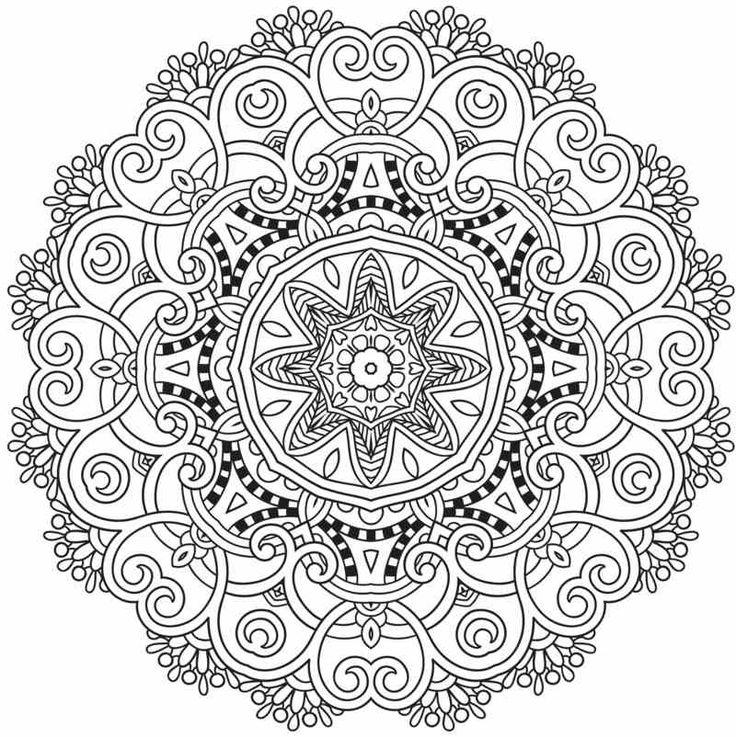 Viele Mandala Vorlagen