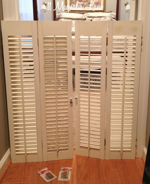 Dog Gate From Vintage Plantation Shutters Rustic Style