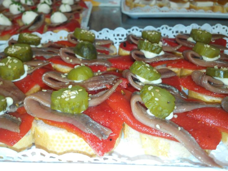 #pintxo #tapa red #pepper and anchovy