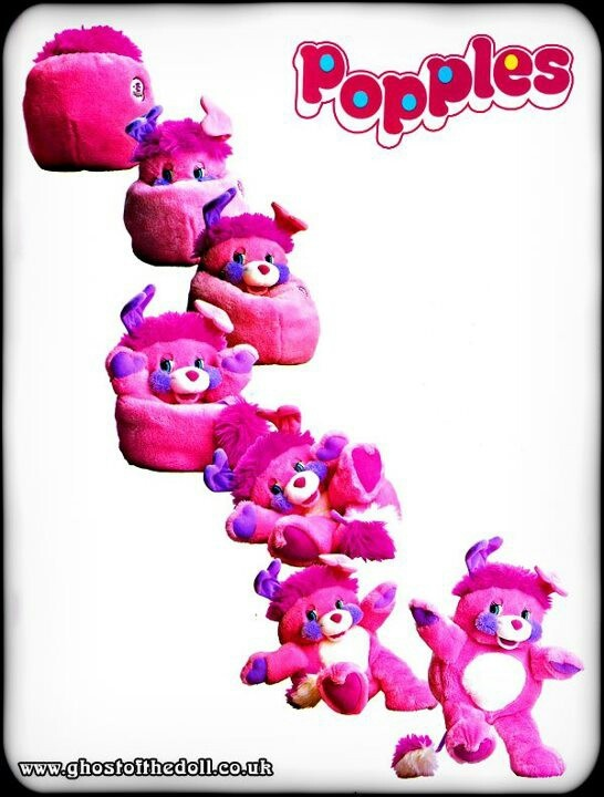 """Popples. I always used to struggle stuffing them back into a ball, but I loved making them """"pop"""""""