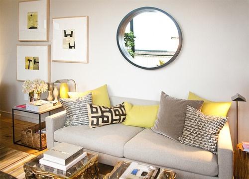 Sofa + Cushions.