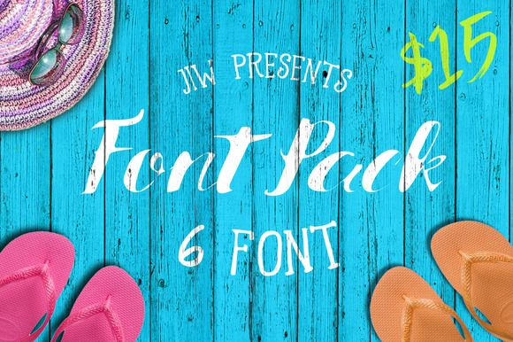 FONT PACK ( 40% OFF ) by Jiw on Creative Market