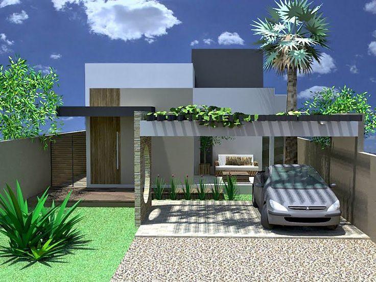 Garagem totalmente isolada da casa, onde se pd ter uma varanda cm móveis e plantas.