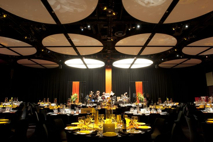 WMS 2012 Congress Dinner a the PCEC Ballroom  - intelligent table pin spots cost effective way to theme the room