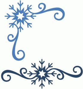 Silhouette Online Store - View Design #52174: snowflake flourish & corner