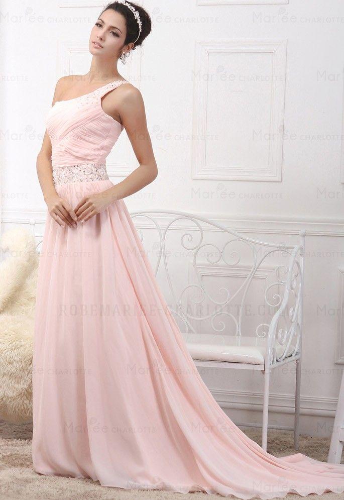 Longue robe de soirée de mariage