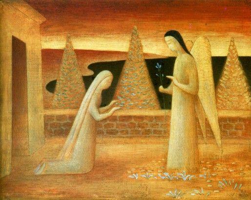 Zvěstování ~ Annunciation; Jan Zrzavý, 1943