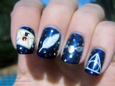 Muggle Manicures: Nail Art: Harry Potter Inspired Nails