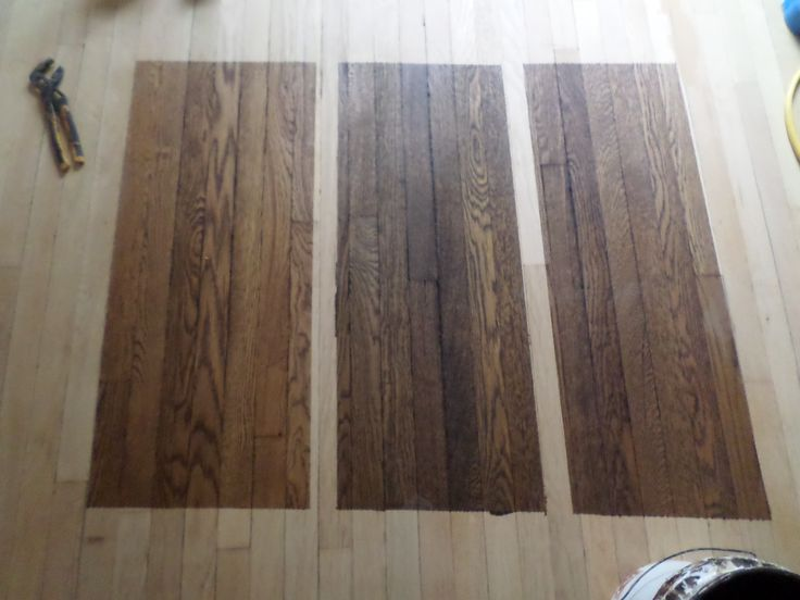 Original 1925 White Oak Floors Stains Starting From Left