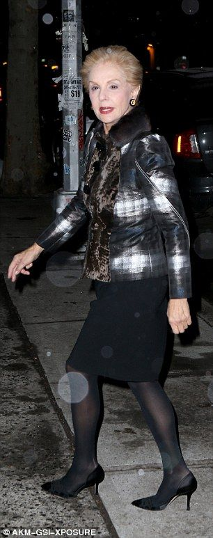 Fashion night out: Vera Wang, 66, (L) and Carolina Herrera, 77, (R) each cut chic figures ...