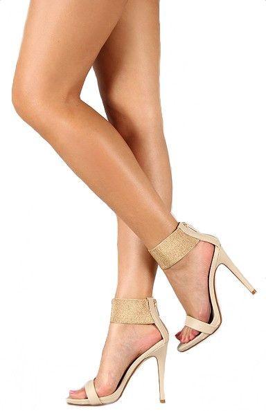 Dearly Beloved Ankle Cuff Heels - Ivory