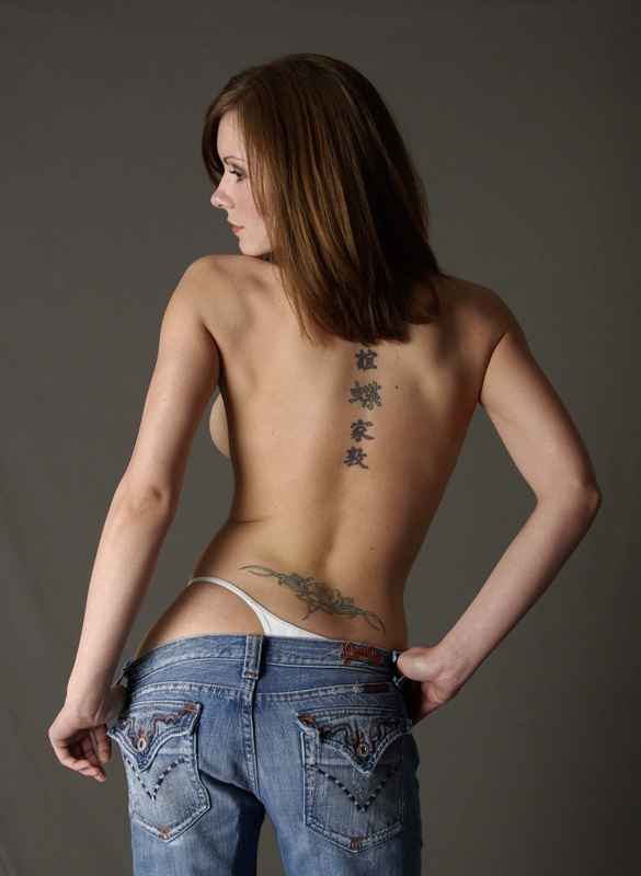 Naked girls with tramp stamps agree with