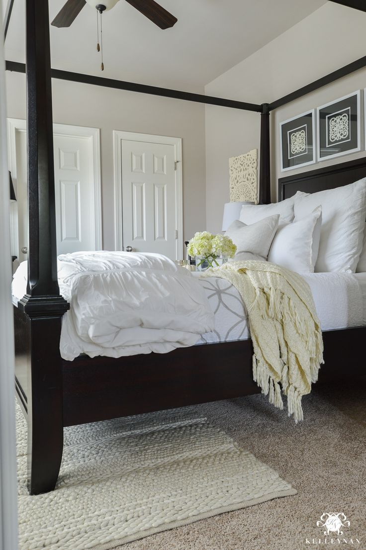 Why Rugs Should Be Layered On Carpet- black canopy bed & Best 25+ Black canopy beds ideas on Pinterest | Modern canopy bed ...