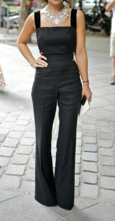 BLACK LINEN JUMPSUIT JUMPER #UNIQUE_WOMENS_FASHION http://stores.ebay.com/VibeUrbanClothing