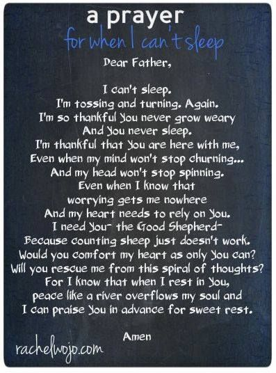 Can't Sleep Prayer