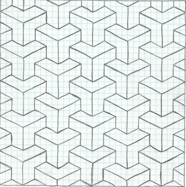 Геометрические картинки по клеточкам