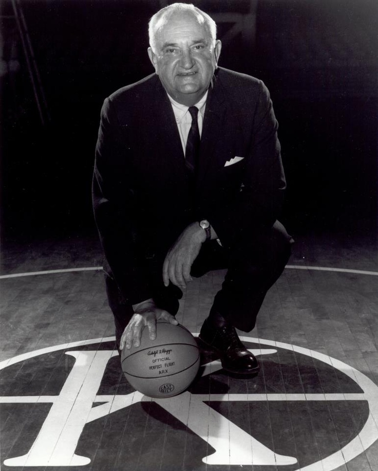 Adolph Rupp: the Baron of the Bluegrass led the University of Kentucky to four National Titles and has created a legacy at the school that continues there today.  He retired as the all-time winningest coach in NCAA history.  He coached 50 All-Americans, and 91 All-SEC players.  The arena at the University bears his name.