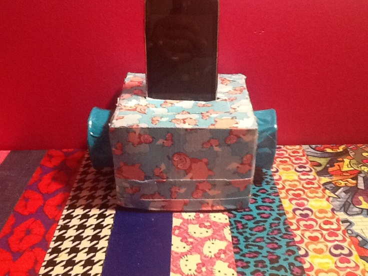 Recycled tissue box and toilet paper roll made into for Toilet paper roll jewelry box