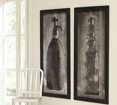 Framed Vintage Seltzer Bottles