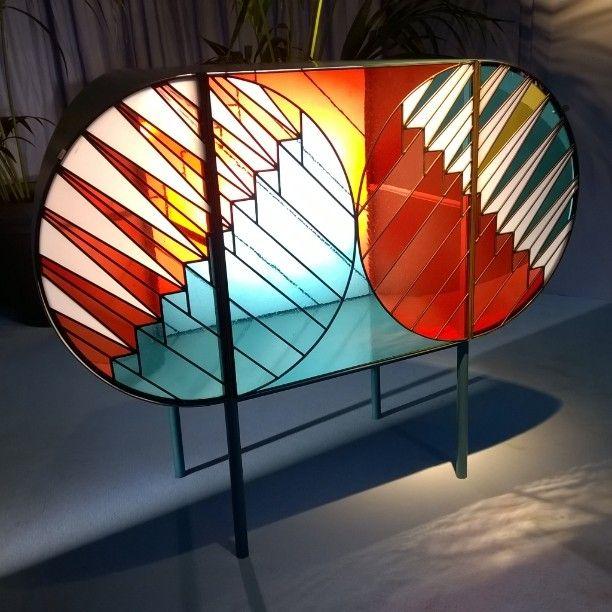 #credenza#patriciaurqiola#federicopepe#metallo#metallolaccato#vetro#piombo#plomb#vitrail#furniture#spaziopontaccio#milano#milan#Mdw#milandesignweek#2016#capsulecollection#gallery#decoration#exclusivity#luxury#design#cabinet#stainedglass#arts#artistique#sideboard#loveit#bestoffmilano by angmare