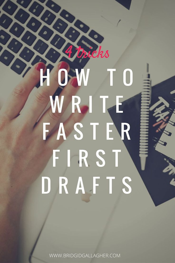 Everyone wants to write faster. You want to make the most of your time to write. Life is short, and you have eleventy billion story ideas to share with the world. I'm sharing four tricks that have helped me write faster first drafts, plus my bonus tip that can change the way you write in a BIG way. Click through to learn how YOU can write a faster first draft!