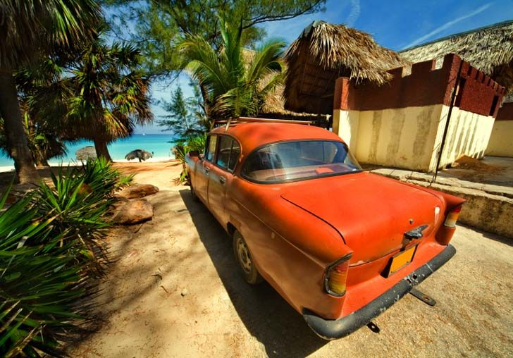 Cuba's famed beaches and retro cars
