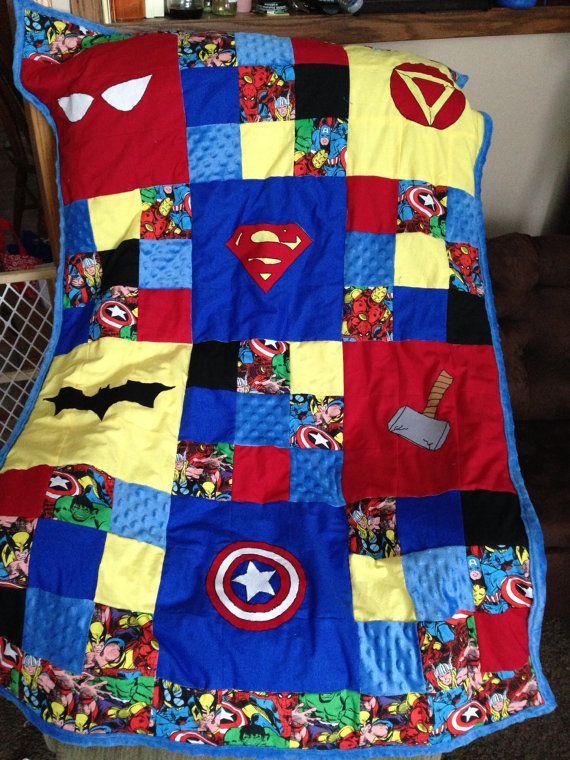 Custom Quilts Super Hero Quilt by bnevaharrington on Etsy