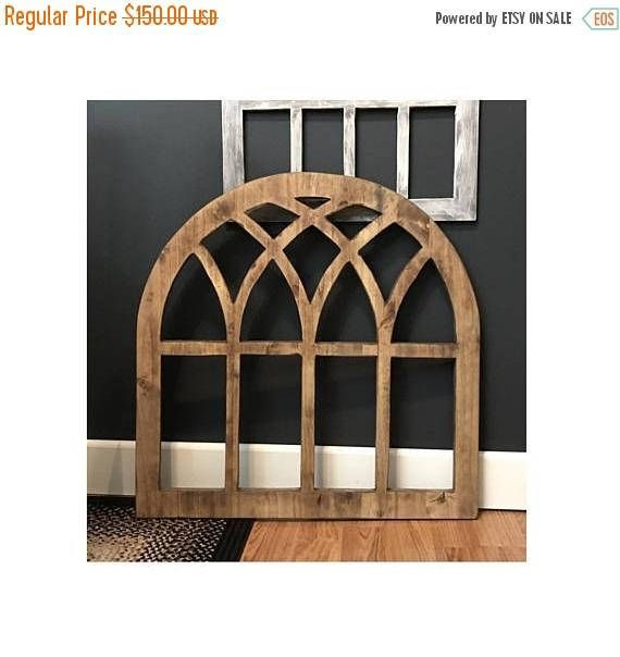 Our Arch Wood Window Wall Decor are made 3/4 Quality Maple Lumber. Hand-crafted by Willow Hill Signs. OUR 24 X 48 ARCHES AVAILABLE HERE https://www.etsy.com/listing/523335590/arch-wood-window-wall-decor-1-thick Our arch wood window decor is completely handmade by use. They are not