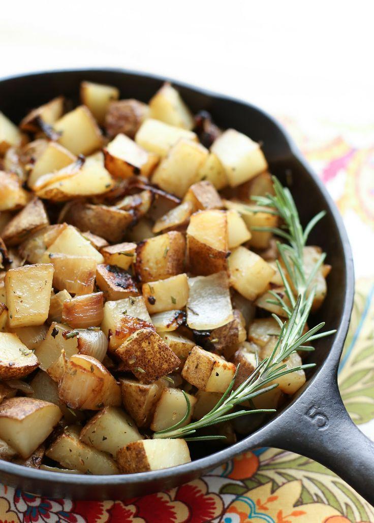 rosemary onion skillet potatoes
