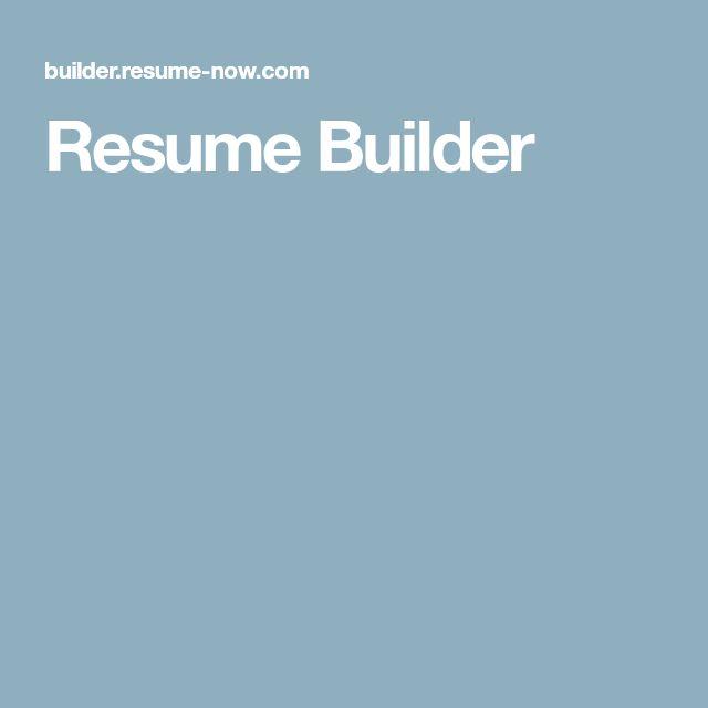 Best 25+ My resume builder ideas on Pinterest Resume builder - resume now review