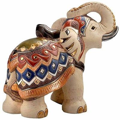 White Indian Elephant Large Figurine Limited Ed 369 of 1000 - Rinconada (9227)