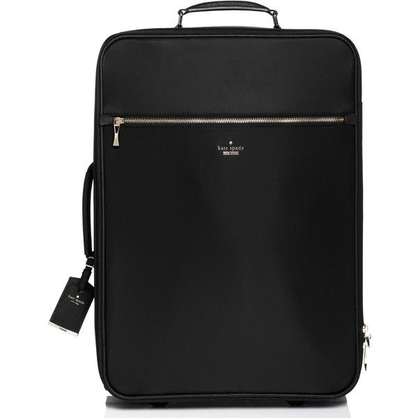 Kate Spade Classic Nylon International Carry-On ($448) ❤ liked on Polyvore featuring bags, luggage and suitcases