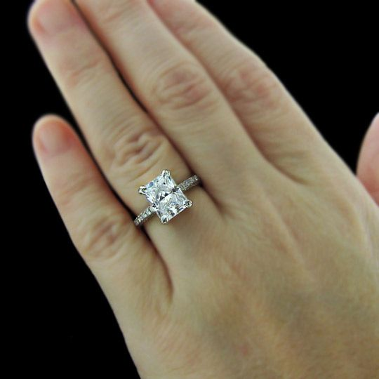 Socialite Celebrity Inspired Micro Pave Engagement Ring