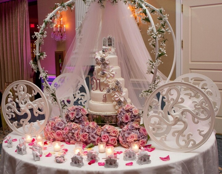 Cinderella Cake Set Up