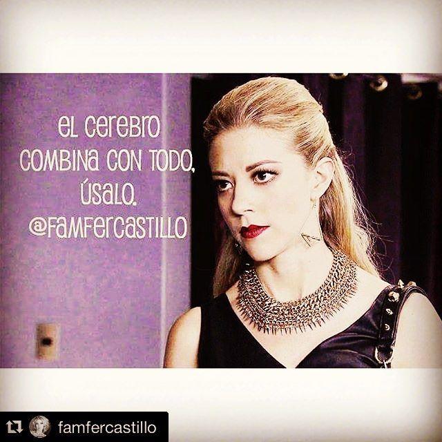 Recomendación de Domingo #CabronacomoMonicaRobles @famfercastillo with @repostapp. ・・・ El cerebro combina con todo, Usalo por favor! #MonicaRobles