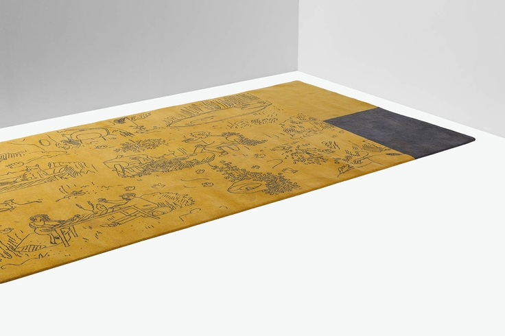 haqnd knotted # rug MOrgane design by Luca #Nichetto #interiordesign