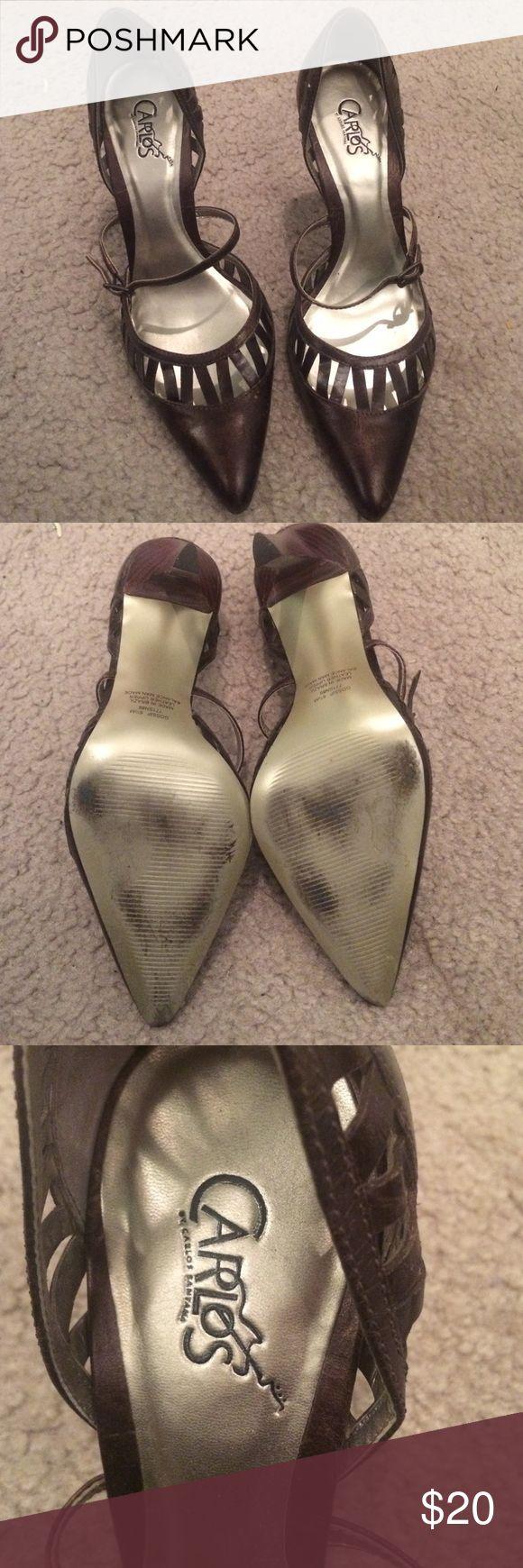 Carlos Santana Women's closed toe Pumps Carlos Santana Closed toe Women's Pumps size 6.5... dark brown .. worn a few times carlos santana  Shoes Heels