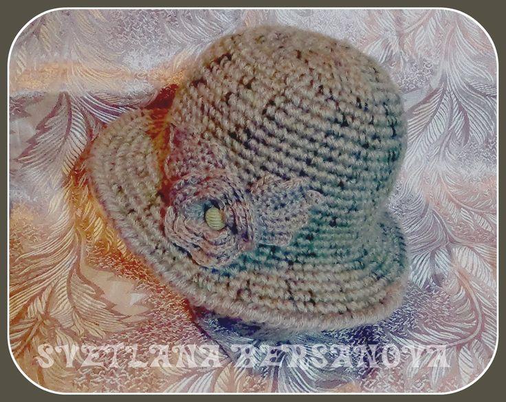 Теплая шляпка крючком. Часть 2 .Crochet hat w