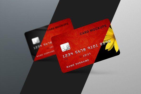 7 Credit Card Mock Ups Bank Credit Card Design Credit Card