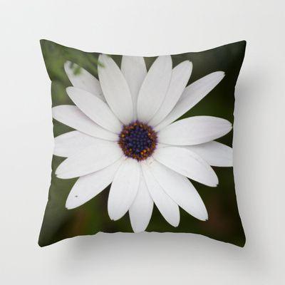 dressed in white Throw Pillow by Oscar Tello Muñoz - $20.00