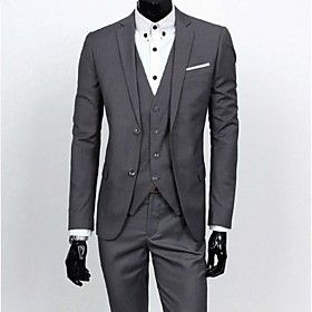 CAIHUA™ Men's High-End Slim Three-Piece Business Suit  (Waistcoat  Trousers  Coat)