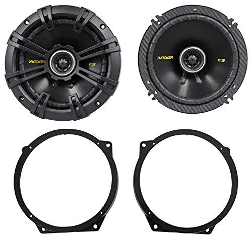 Package Pair of Kicker 40CS654 65 4Ohm 2Way Car Audio Coaxial Speakers Totaling 600 Watt  Metra 829302 0208 Mini Cooper 6 To 675 Front Speaker Adapter Bracket Plates Made Of Steel -- You can find more details by visiting the image link.