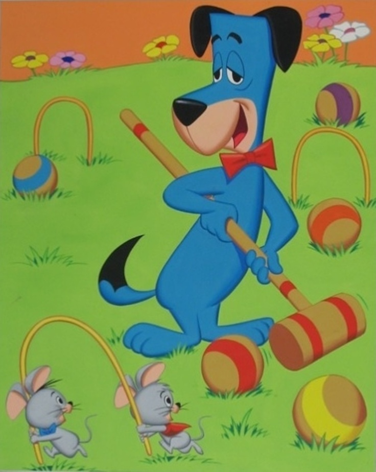 Huckleberry Hound croquet with Pixie and Dixie Vintage