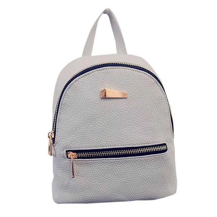 5.80$ (Buy here: http://alipromo.com/redirect/product/olggsvsyvirrjo72hvdqvl2ak2td7iz7/32717040124/en ) 2016 New Women's Backpacks Brand Design Fashion Black High Quality Leather Backpack Travel For School Bags Teenage Girl Rucksack for just 5.80$