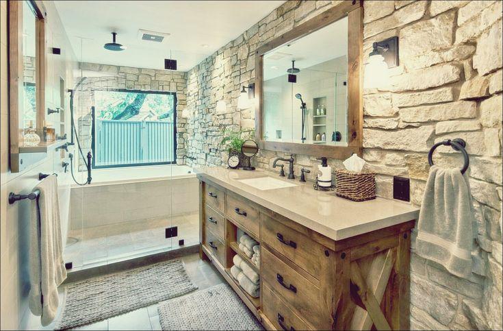 Rustikale Badezimmer-Ideen, inspiriert von der Schönheit der Natur