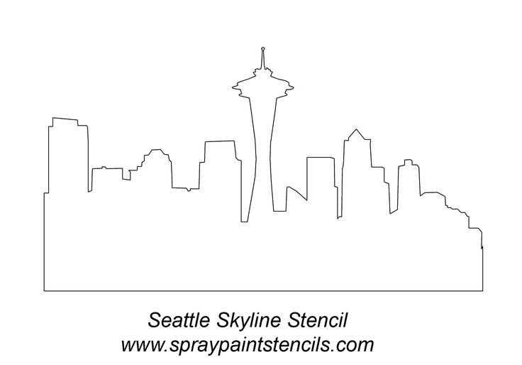 Seattle Skyline Drawing | Outline City Drawings http://forums.bimmerforums.com/forum/showthread ...